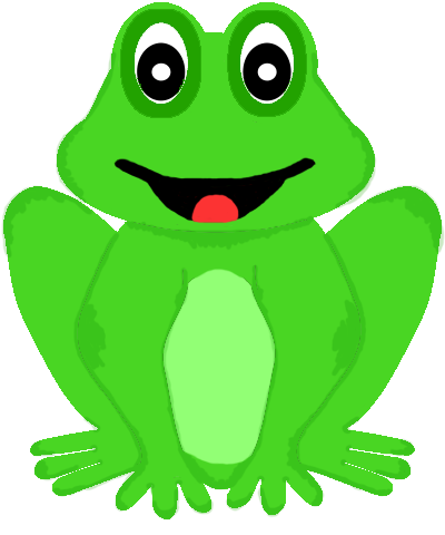 Drawing frogs colour. Cute animals clipart turtles