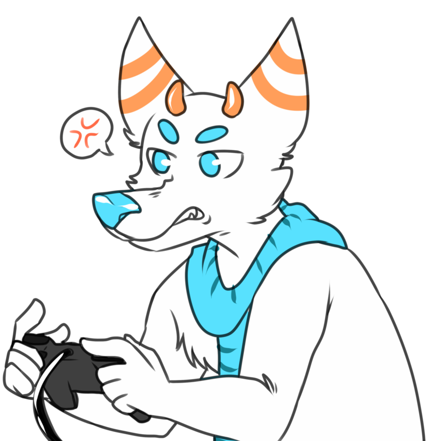 Drawing furry angry. Gamer by hyperion jack
