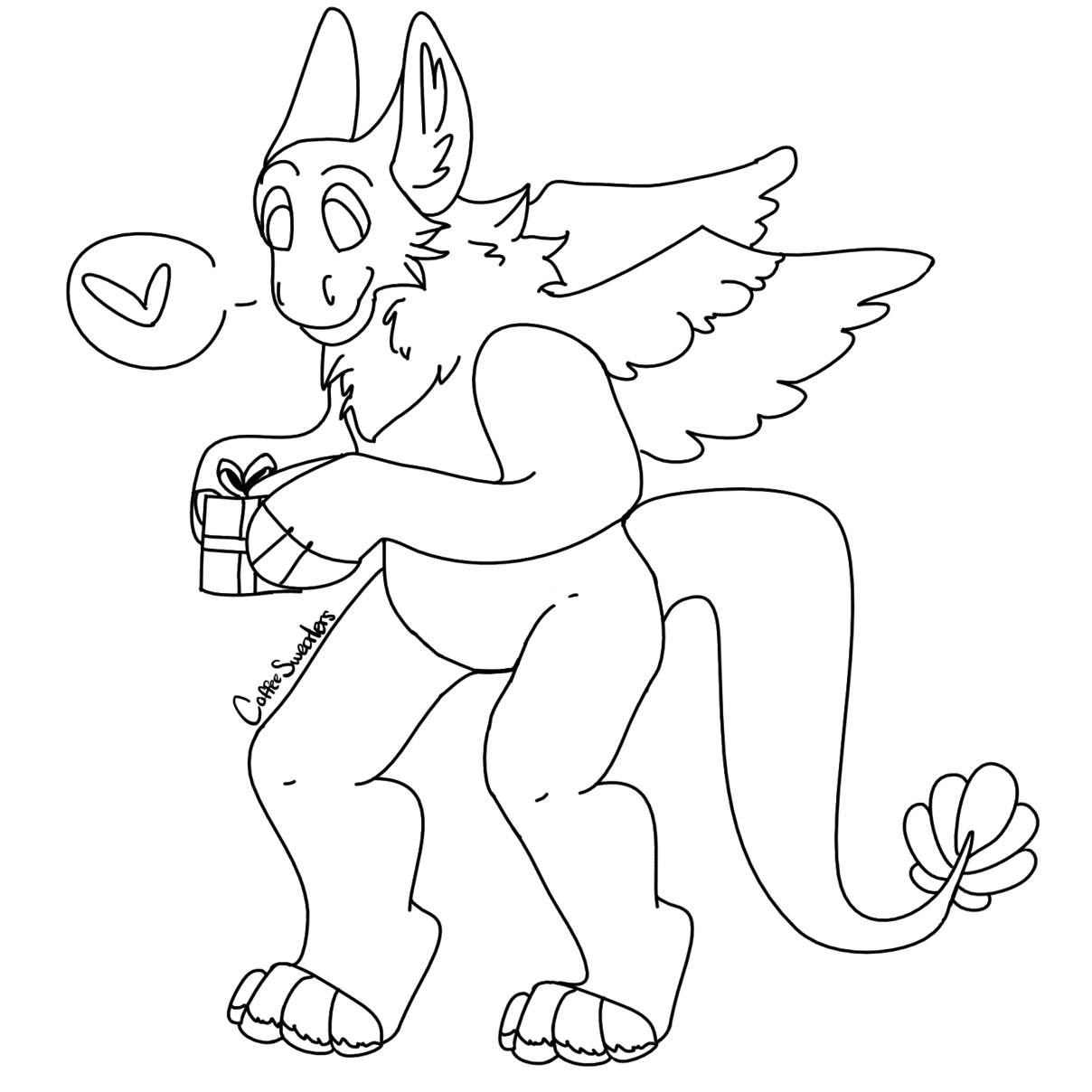 Drawing furry expression. Free use transparent dutch