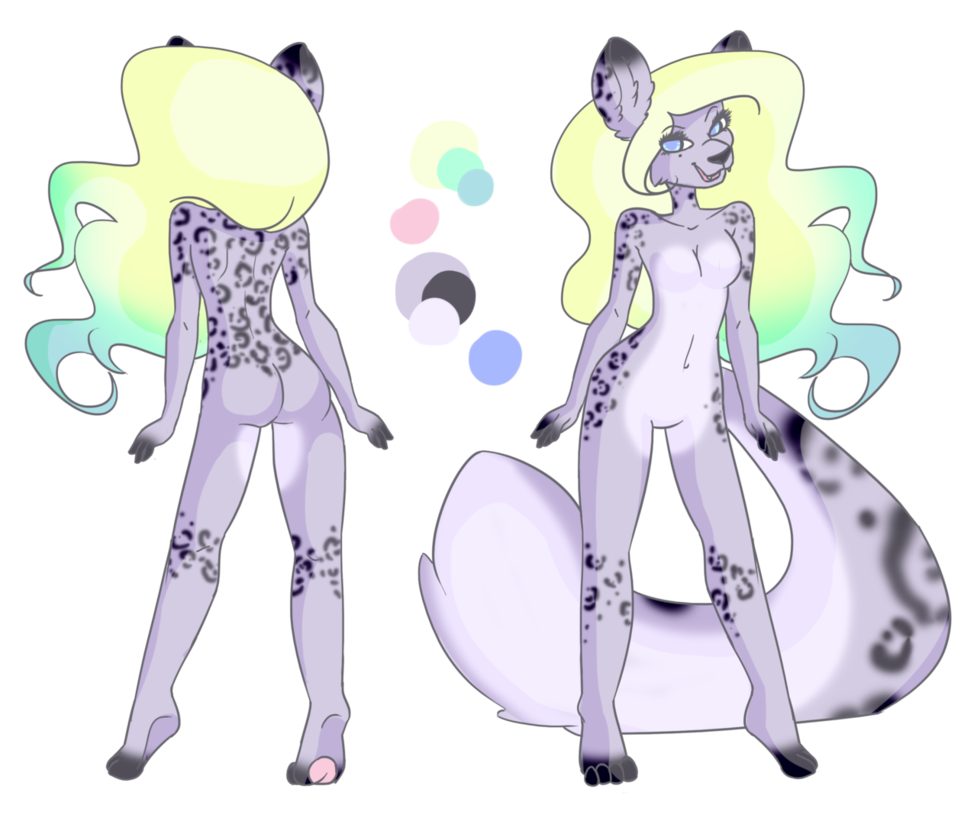 Drawing furry snow leopard. Adoptable by modcoon on