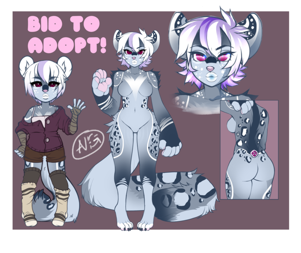 Drawing furry snow leopard. Wolf x mix auction