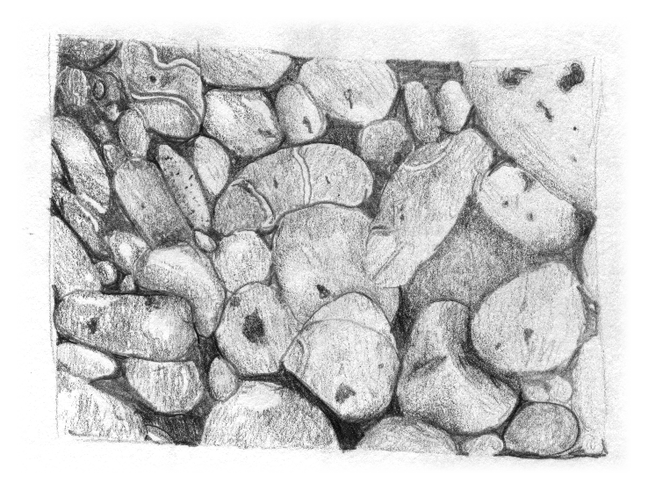 Drawing gallery. Observational pebbles year ovingham