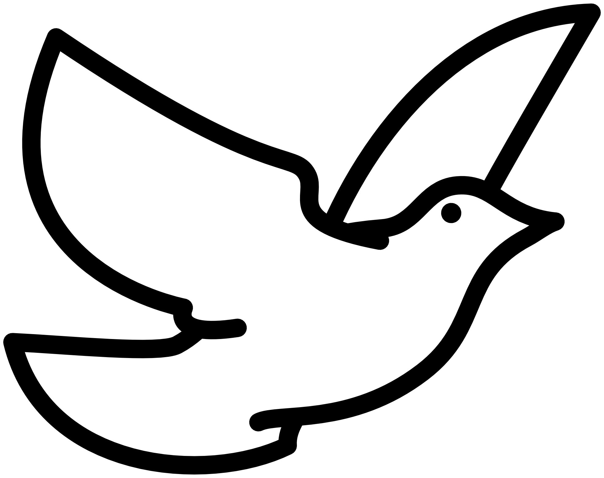 Birds flying up drawing. Vector doves cross picture free stock