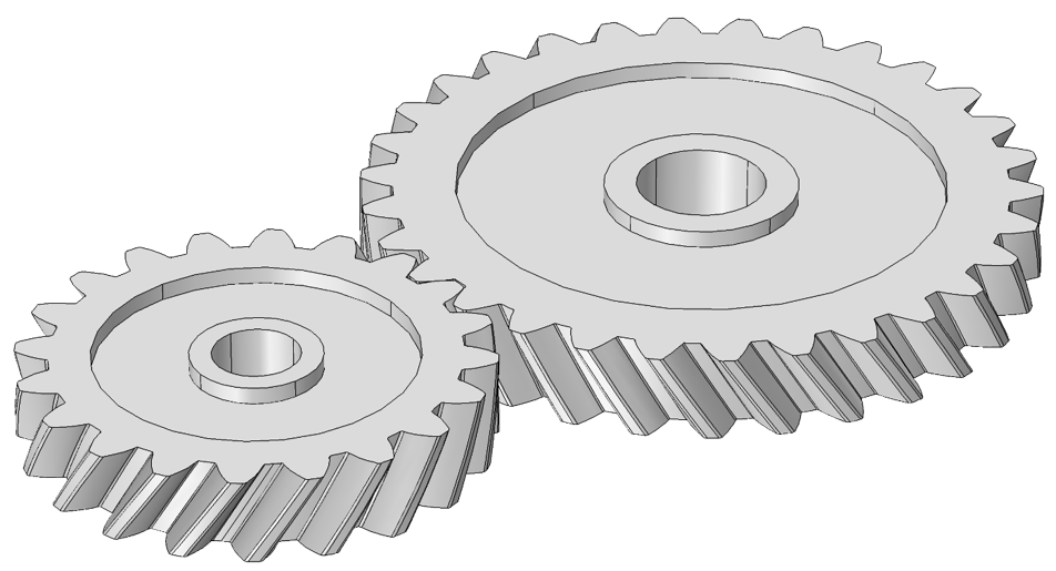 Drawing gears part. Back to basics helical