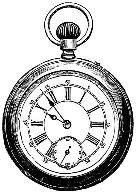 Drawing gear pocket watch. Next a small image