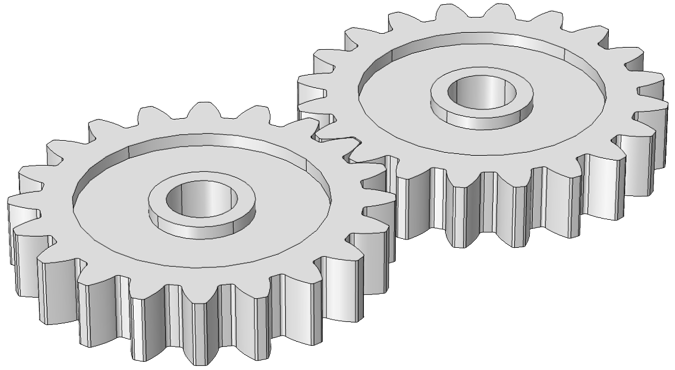 Drawing gears part. An introduction to gear
