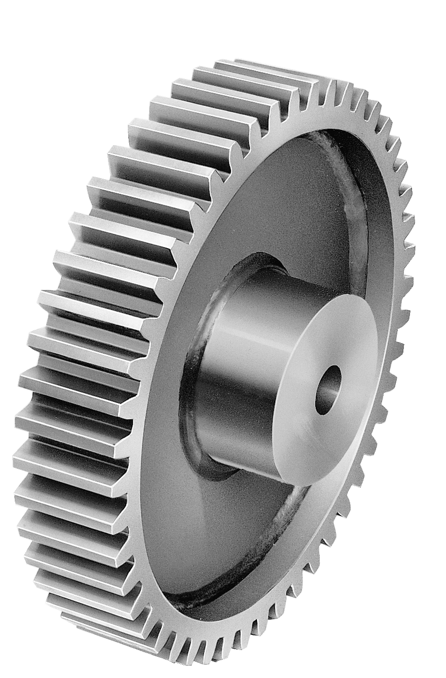 Drawing gear labeled. Spur gears parts linn