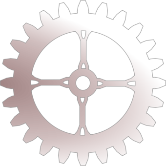 Drawing gear steampunk. Computer icons free commercial