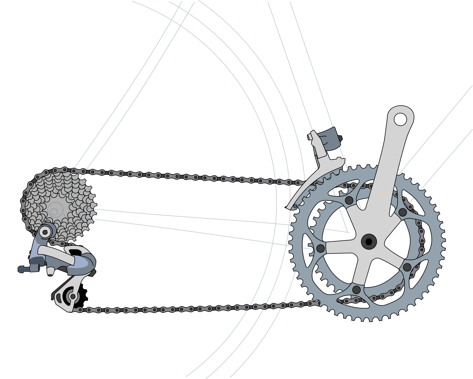 Drawing gear train. Derailleur gears wikipedia historyedit