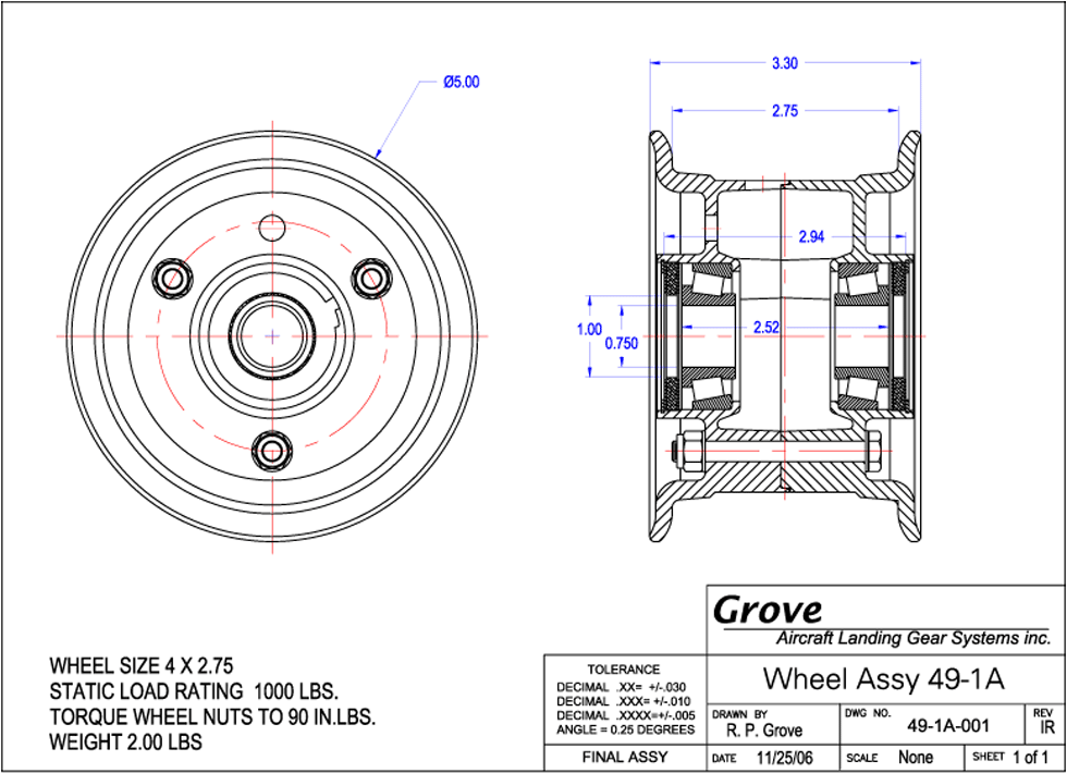 Drawing gears dwg. A inch nose