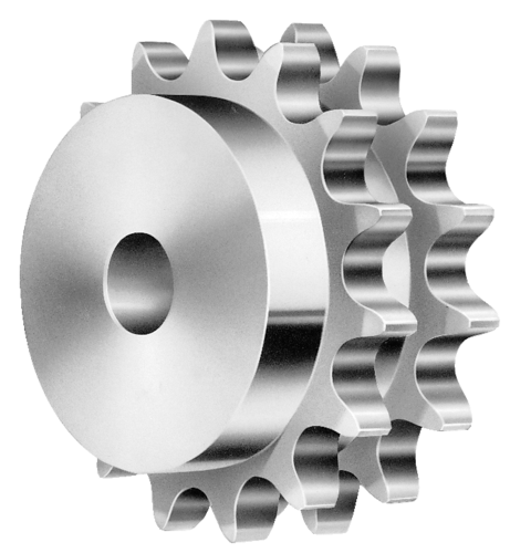 Sprocket drawing duplex. Double strand sprockets all