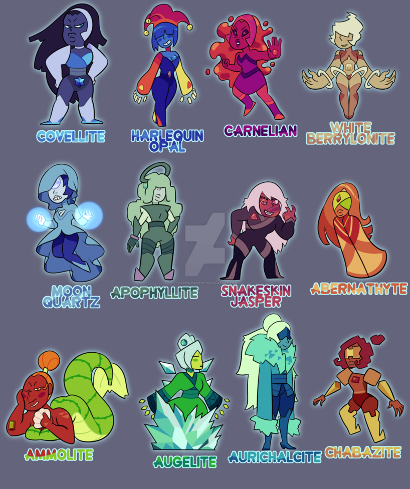 Drawing gemstones cool. Gem adoptables mixed batch