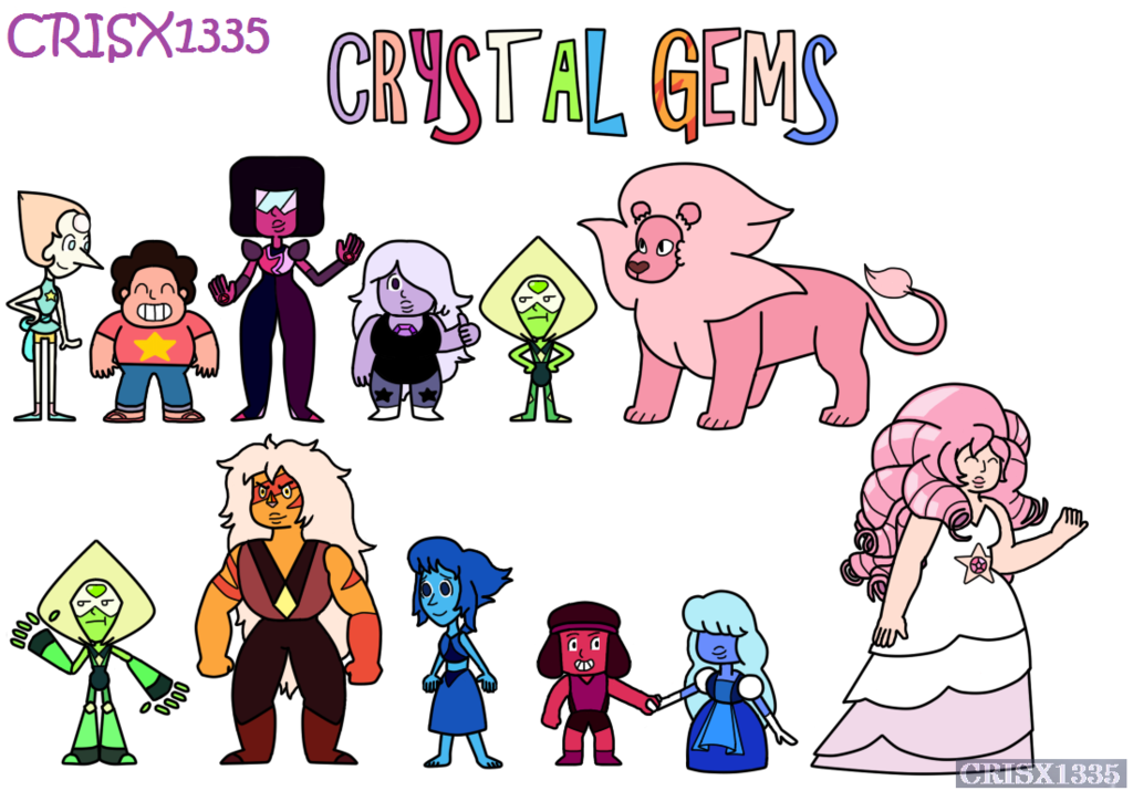 Drawing gemstones crystal. Collection of gem