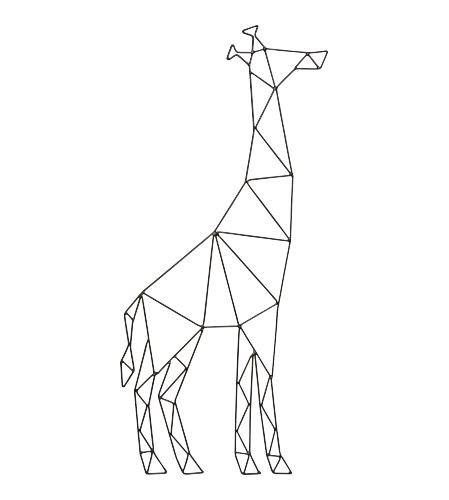 Vector giraffe geometric. Animaux wanddekoration x animals