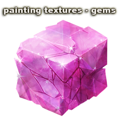 Gems vector jem. Painting textures by vesner