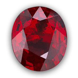 Ruby transparent natural. Cut grading scale education