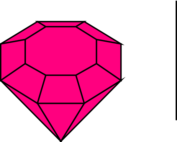 Drawing gemstones ruby. Collection of free gems