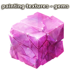 Drawing gemstones texture. Coloring gems and crystals