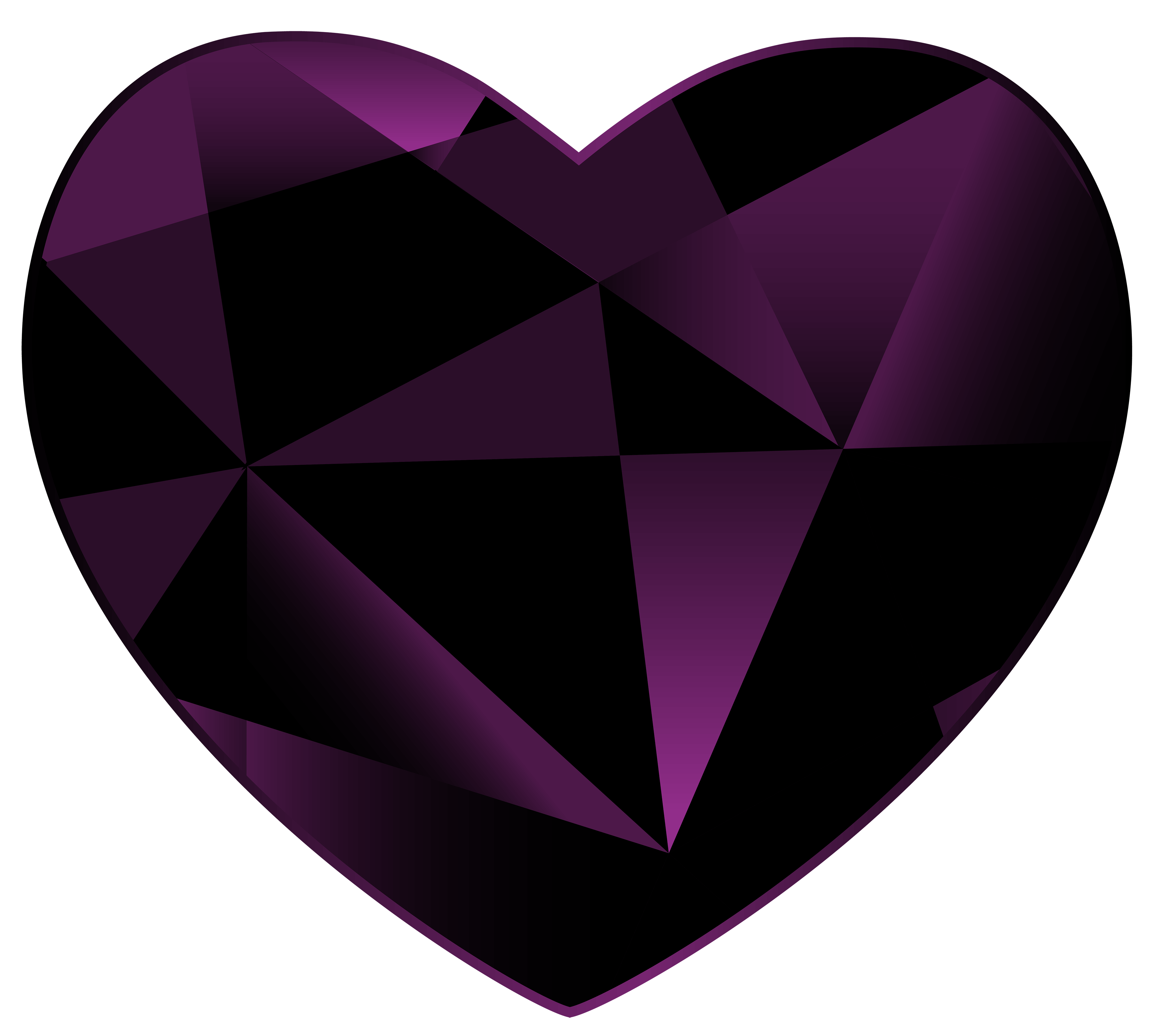 Gemstone vector heart. Collection of free gems