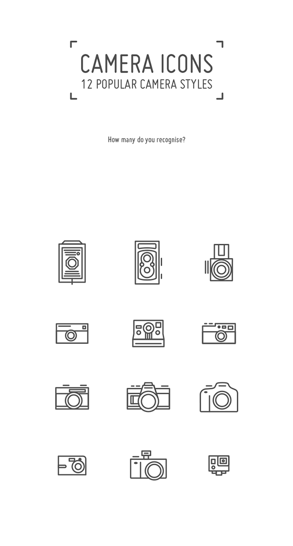 Drawing geometric camera. Icons set by angeloletra