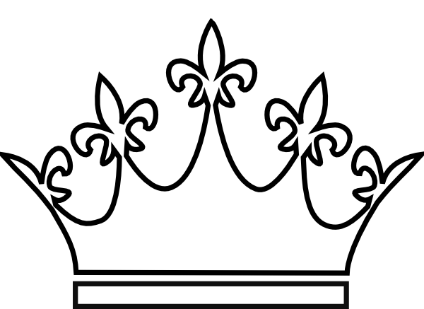 Drawing geometric crown. King and queen crowns