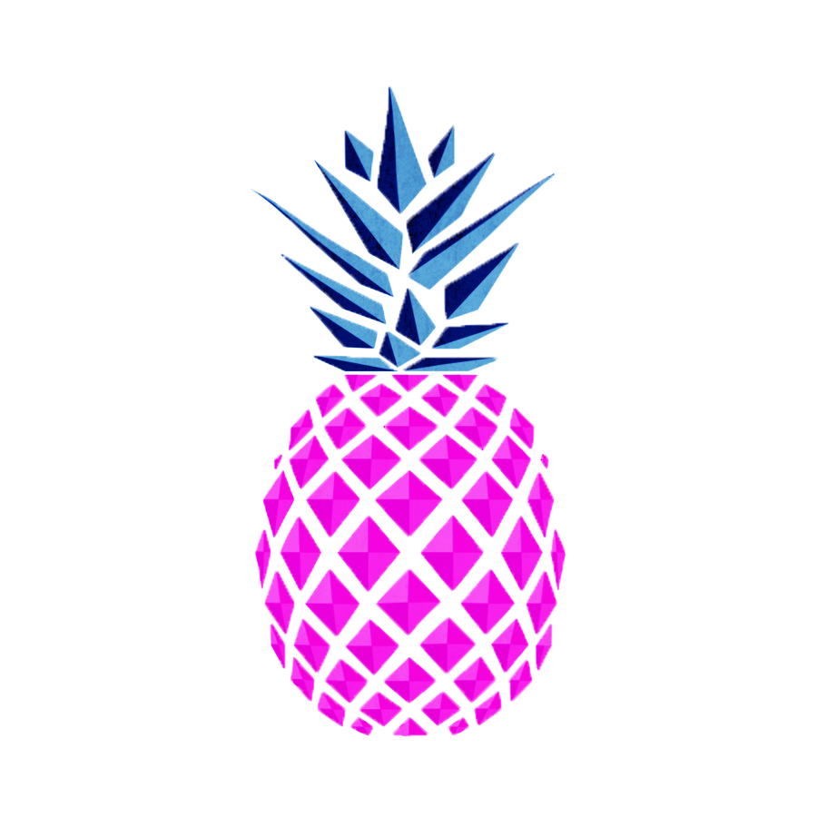 Drawing geometric pineapple. Food pizza geometry transprent