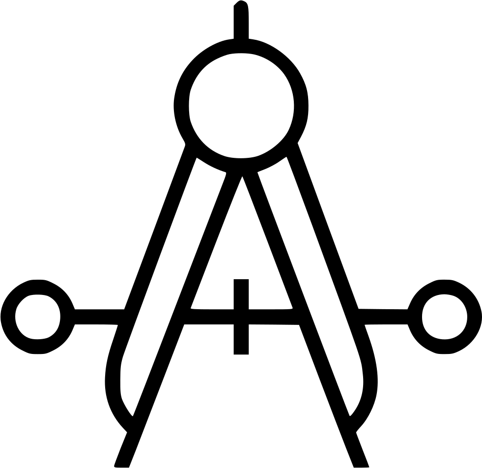 Old drawing compass. Measure geometry equipment svg