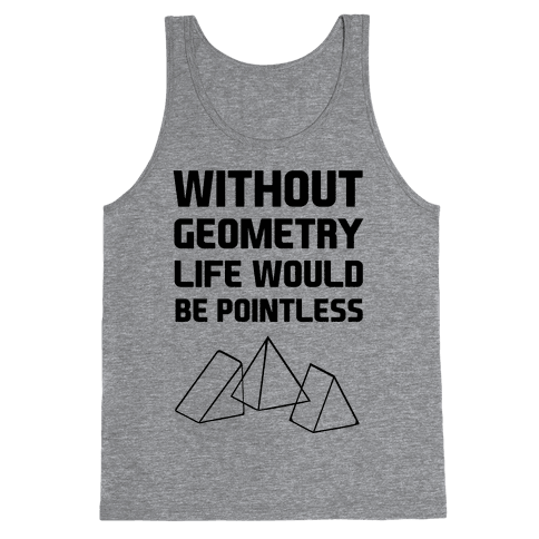 Drawing geometry dress. Tank tops lookhuman without