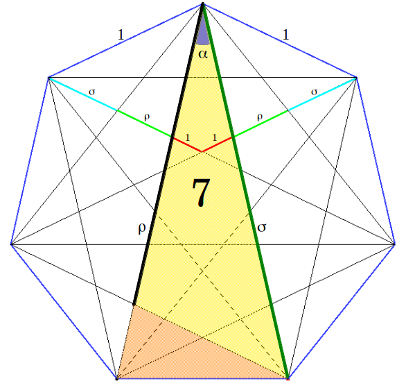 Freemason vector geometry compass. Golden trisection and the