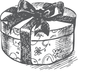 Drawing presents gift. Christmas gifts lussmanns sustainable