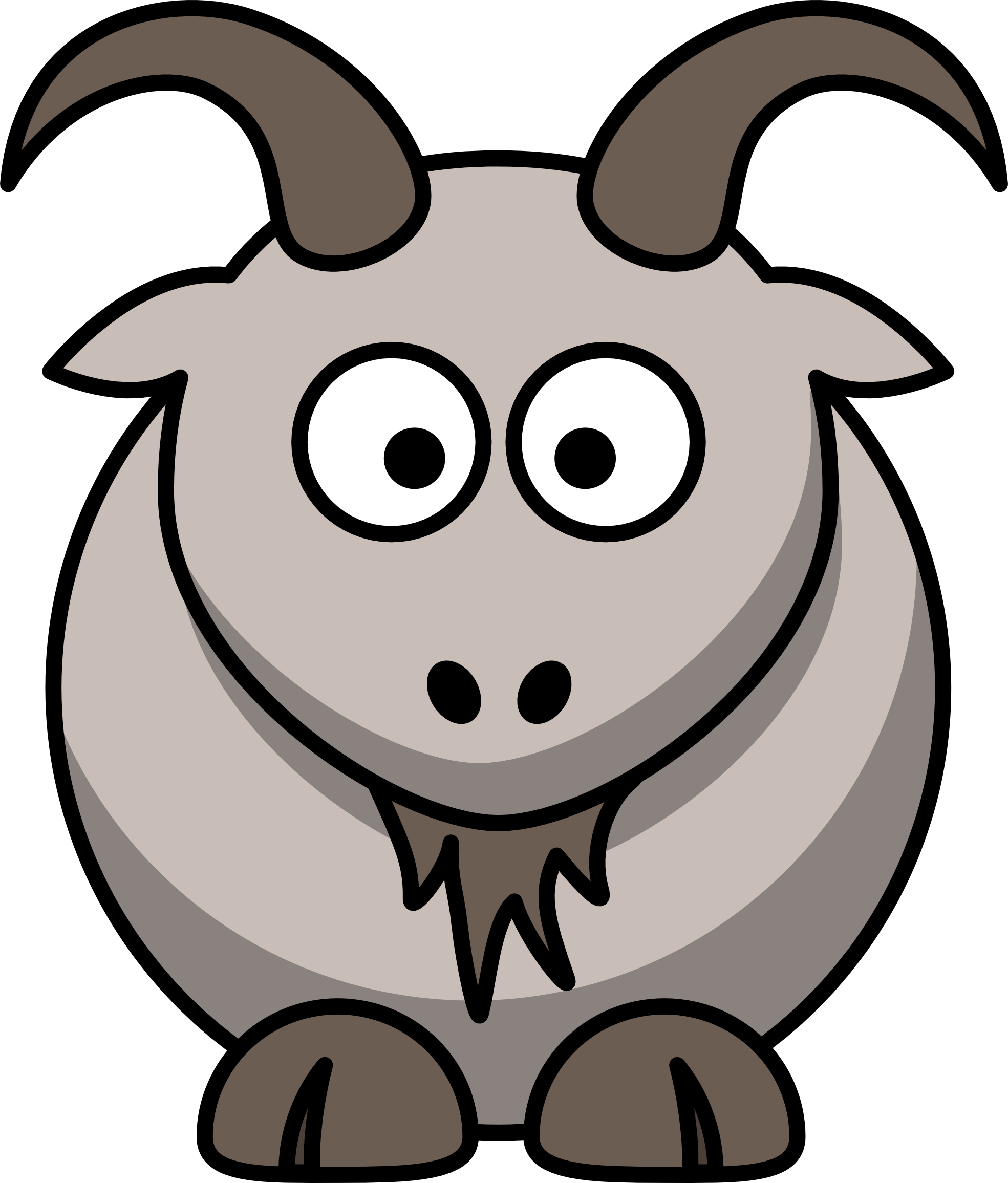 Drawing goats cute. Animal clipart goat borders