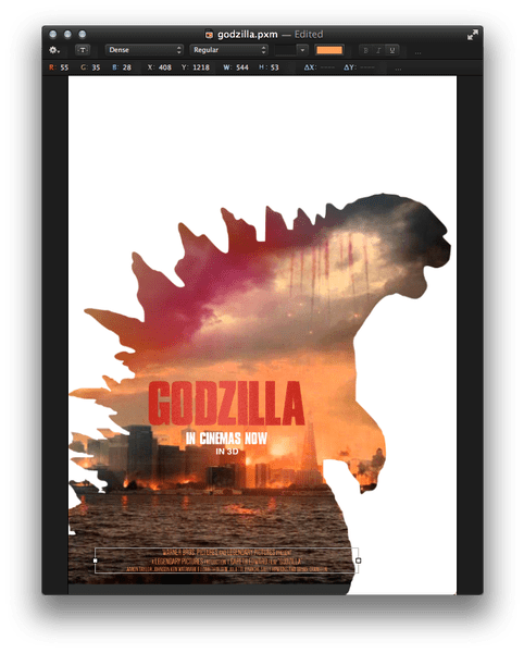 Drawing godzilla ink. Pixelmator tip how to