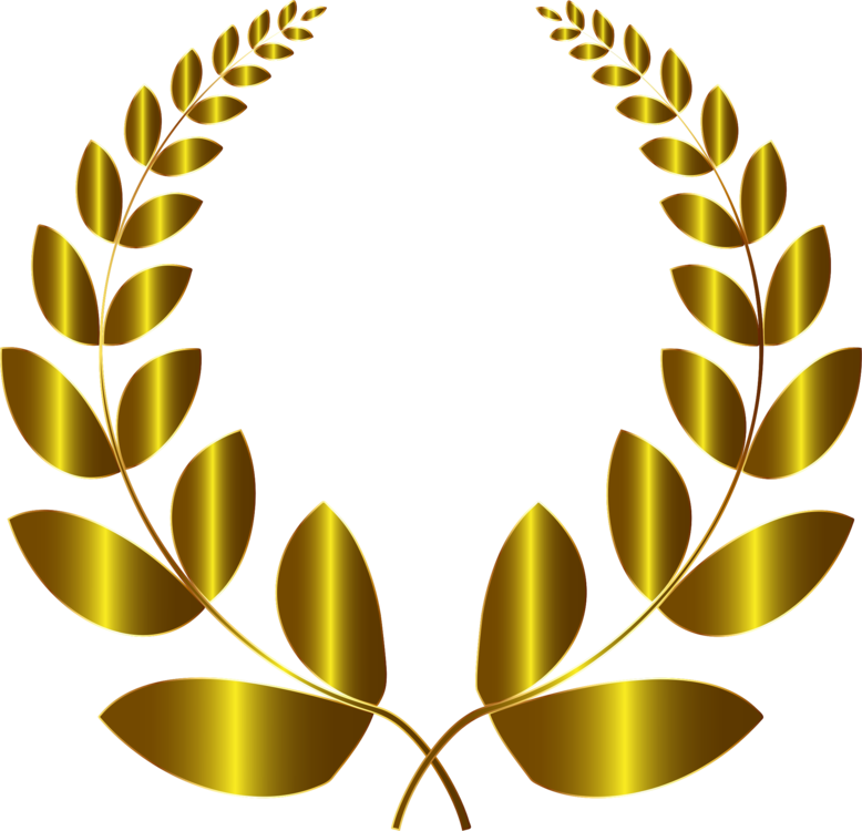 Drawing gold. Laurel wreath bay olive