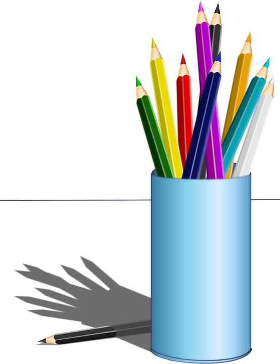 Drawing gold colored pencils. Free image on pixabay