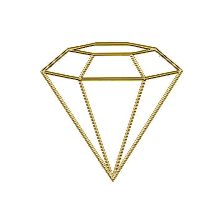 Drawing gold diamond. Free photo gems gemstone