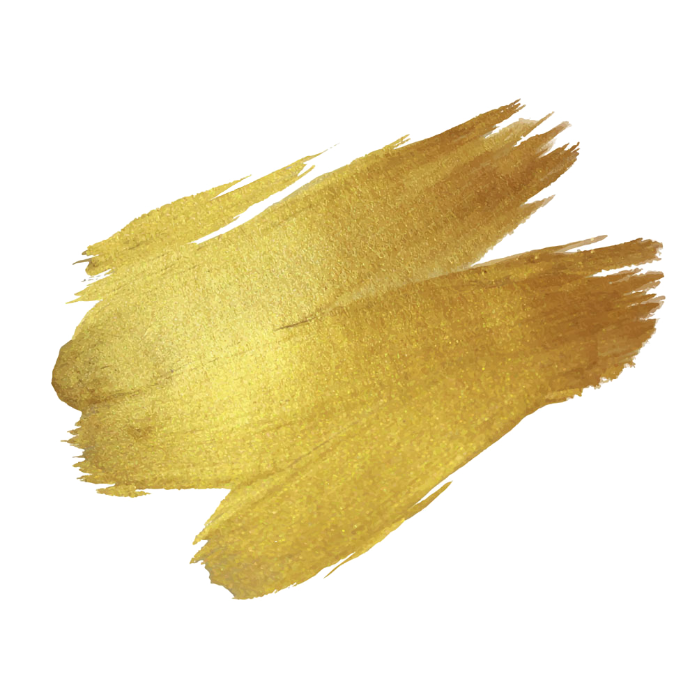 Drawing gold paint. Brush transprent png free
