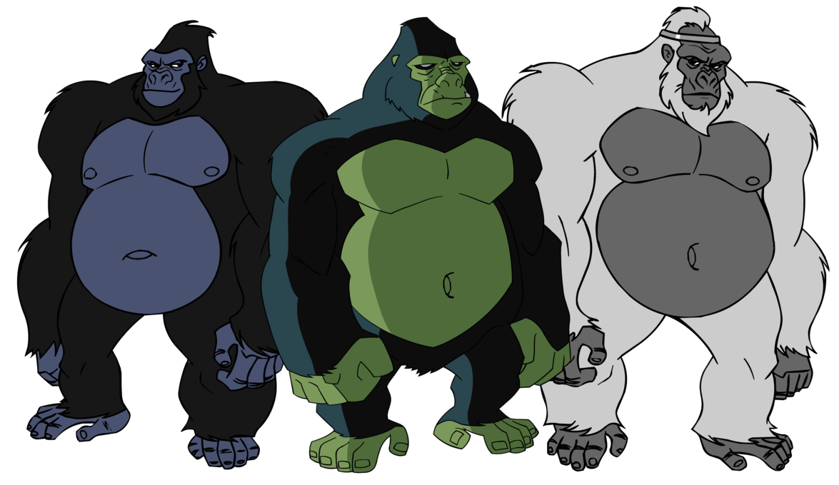 Drawing gorilla beast. A bunch of dc