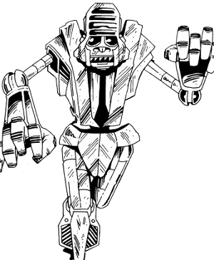 Drawing gorilla robot. Robots gllr type recreation