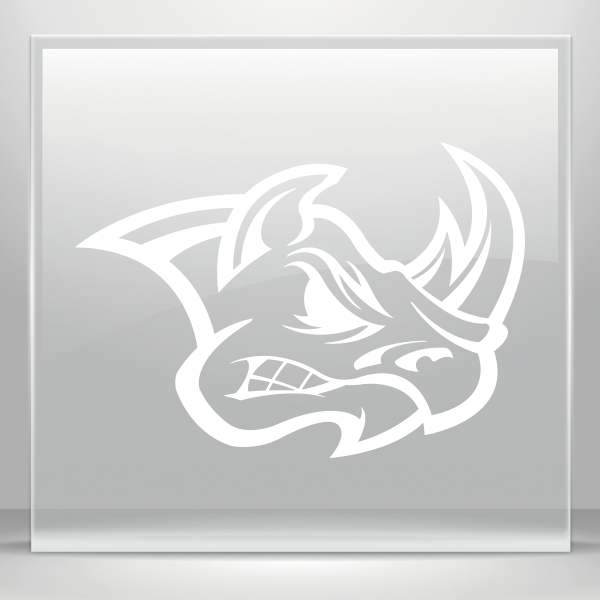 Rhinos drawing tribal. Simple color vinyl rhino