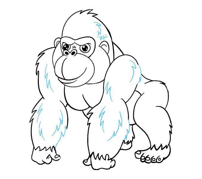 How to draw a. Drawing gorilla jpg freeuse stock