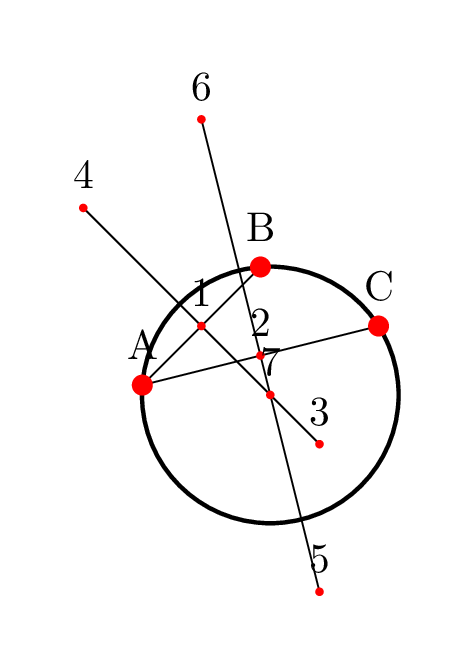Drawing guess answers. Tikz pgf a circle