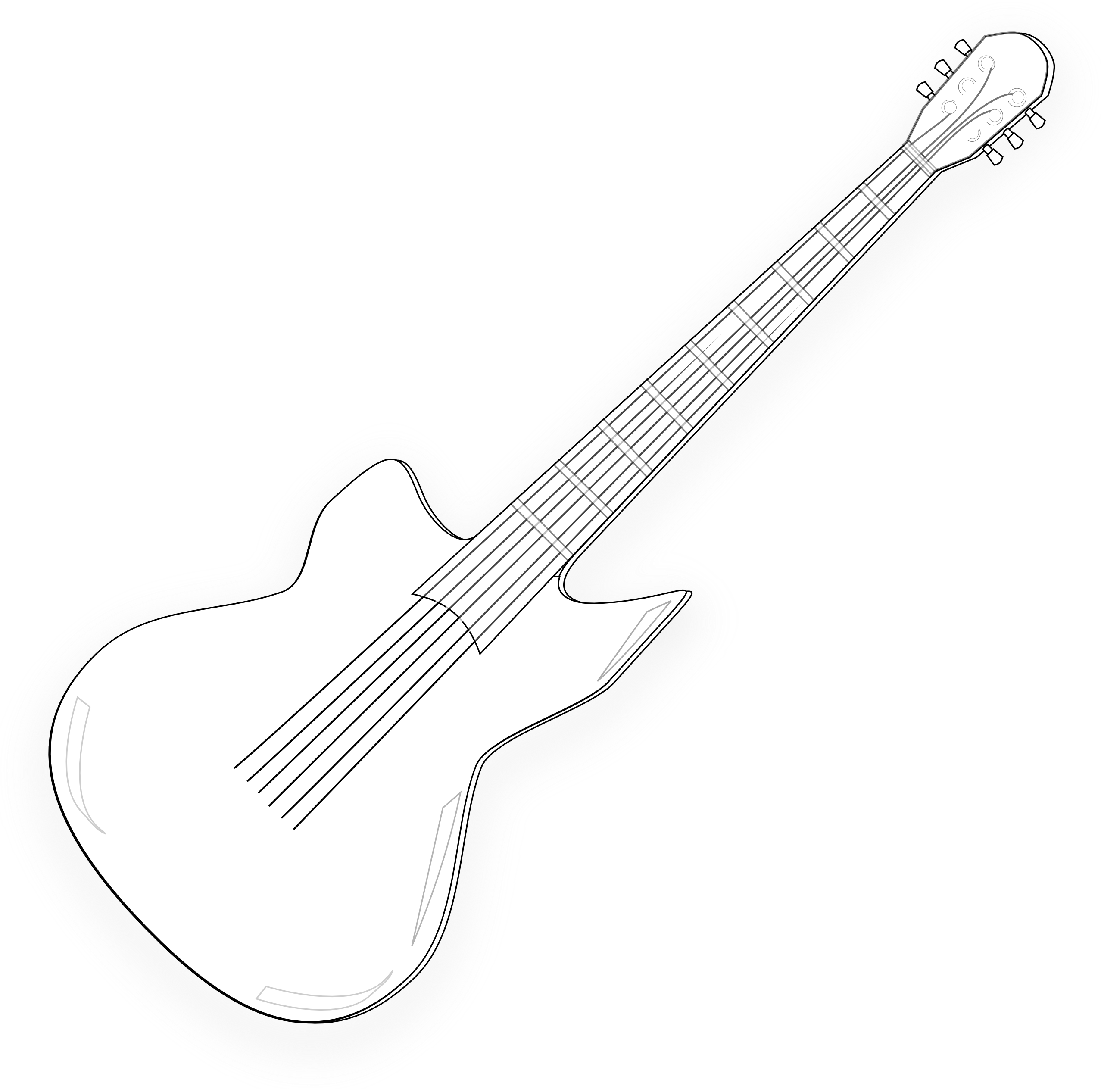 Drawing guitar music. Border clip art quotes