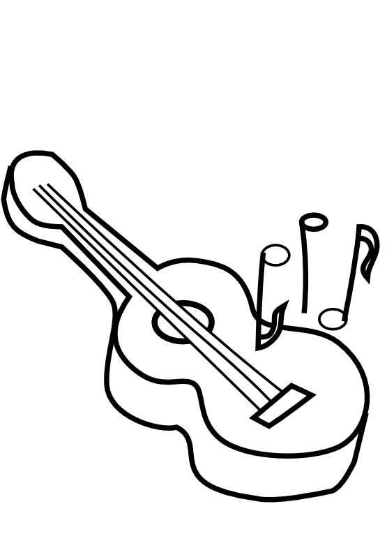 Drawing Guitar Black And White Transparent Clipart Free