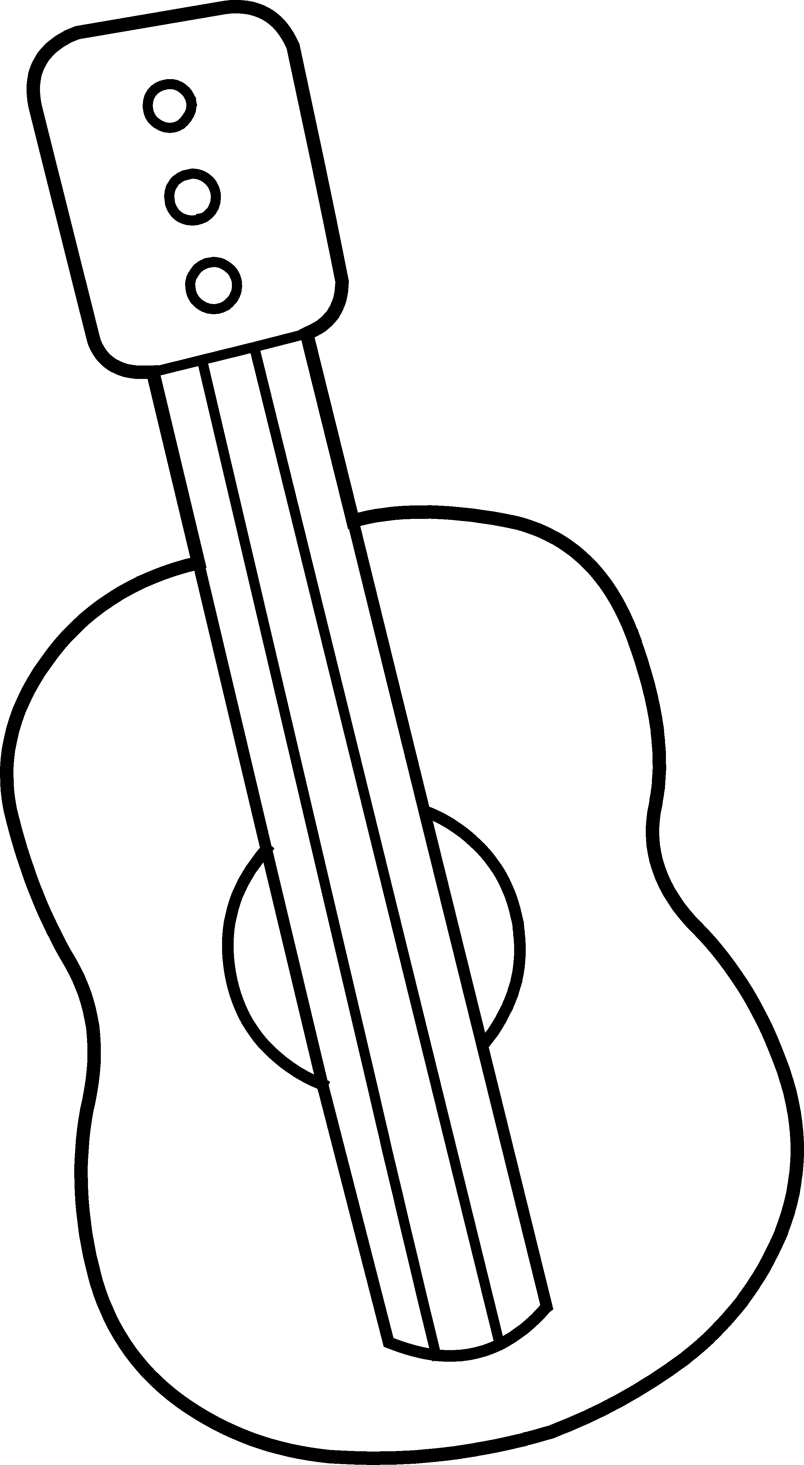 Drawing guitar cute. Mini coloring page free