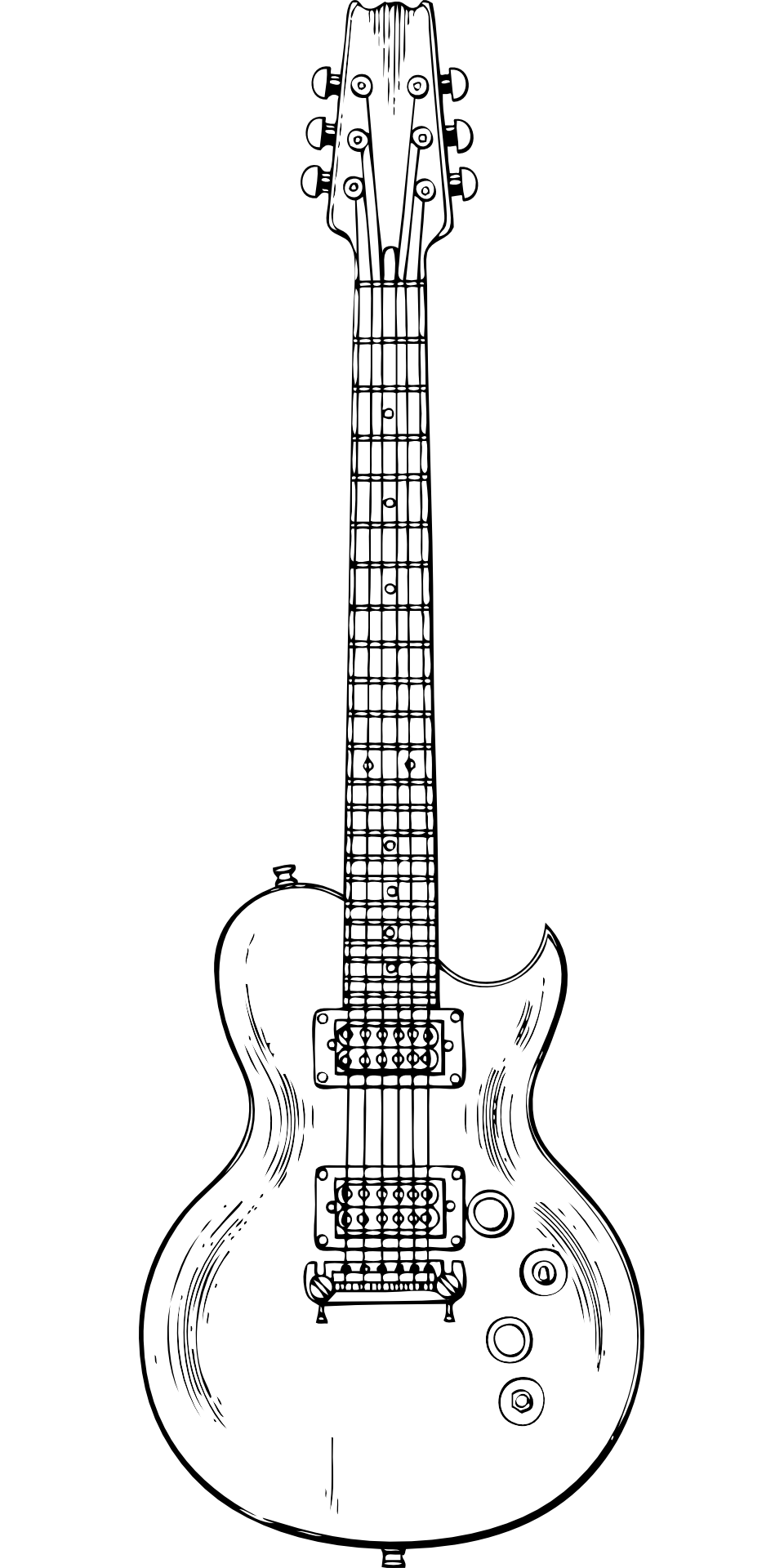 Drawing guitar eletric. Electric musical instrument music