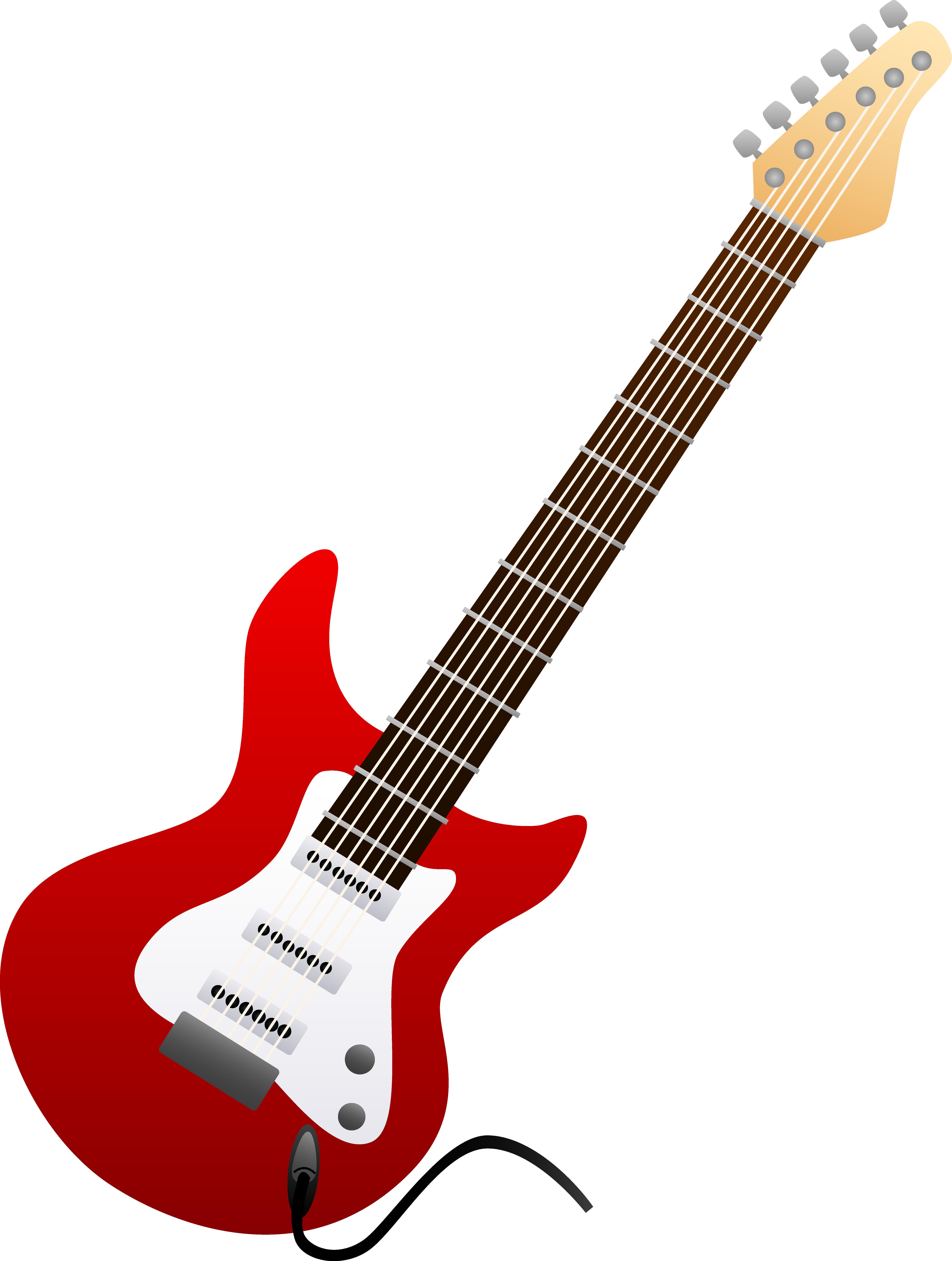 Red electric design free. Woman clipart guitar clip art royalty free