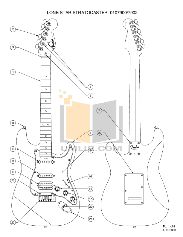 Telecaster Drawing Mini Transparent Clipart Free Download