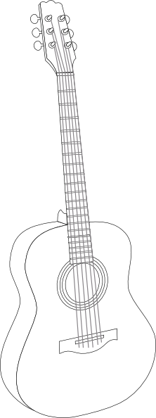 drawing guitar gitar
