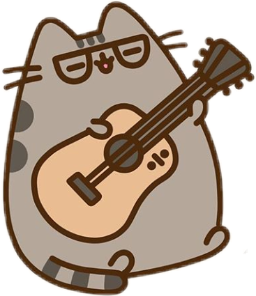 Drawing guitar kawaii. Pusheencat pusheen sticker by