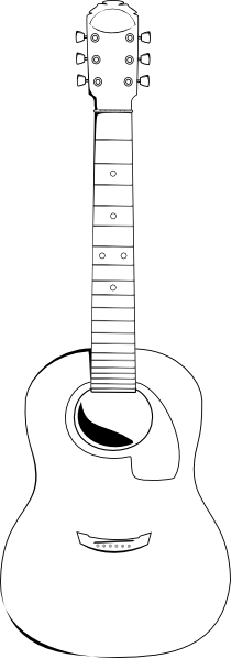 Drawing guitar outline. Clip art at clker